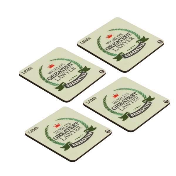 World's Greatest Lawyer Coasters