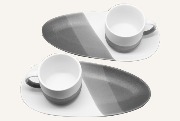 Porcelain 2 Pcs Tea Set