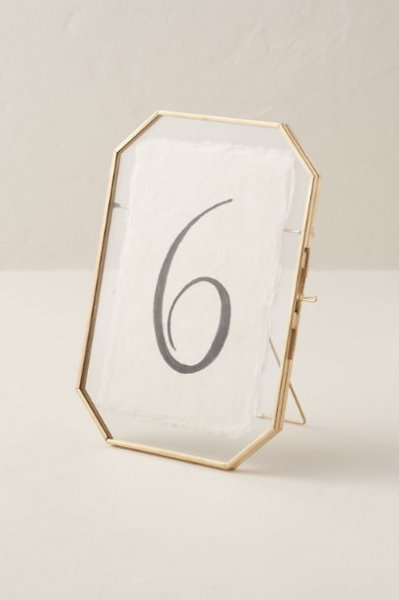 Octagon Table Top Photo Frame
