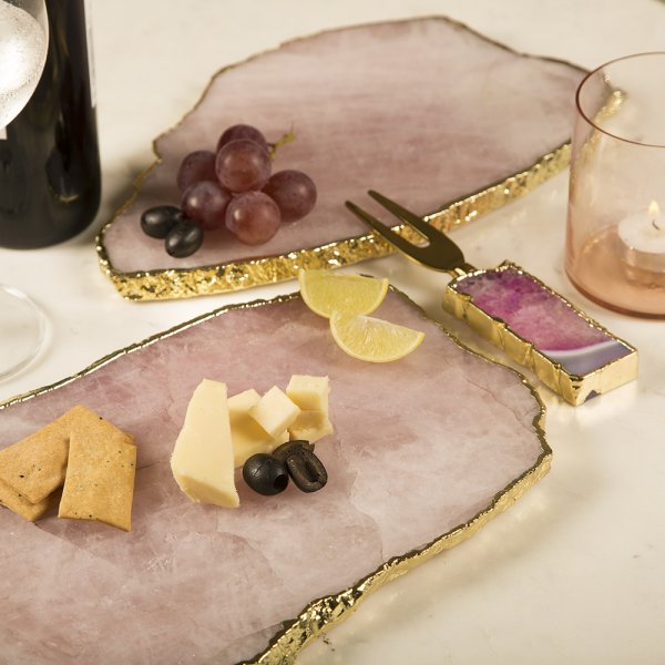 Pink  Quartz Cheese Board