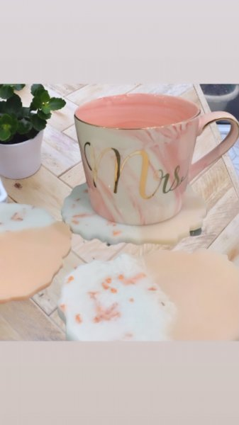 Rose Gold & Pink Coasters