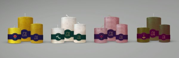Hibiscus Scented Pillar Candles - Box of 3