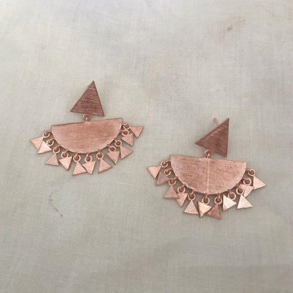 Aster Chandbali Earrings-Rose Gold