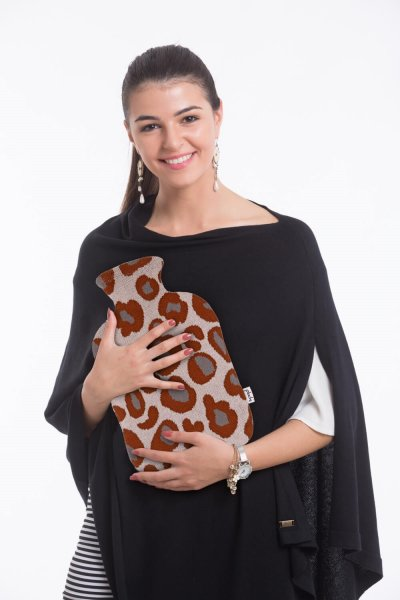 Leopard Design Hot Water Bag Cover