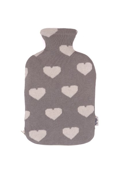 Happy Hearts Hot Water Bag Cover