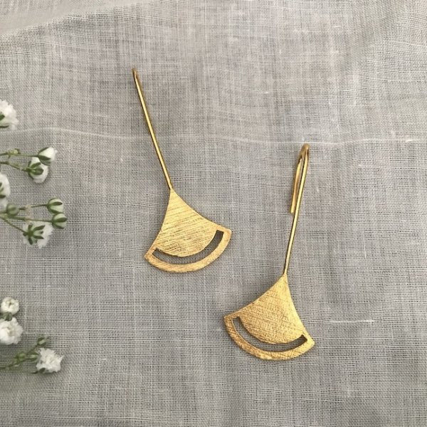 Bell Earrings-Golden