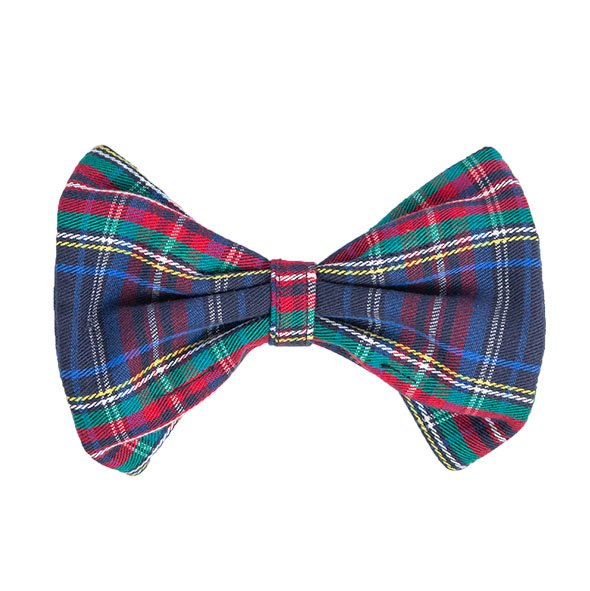 Blue Plaid Slider Bow