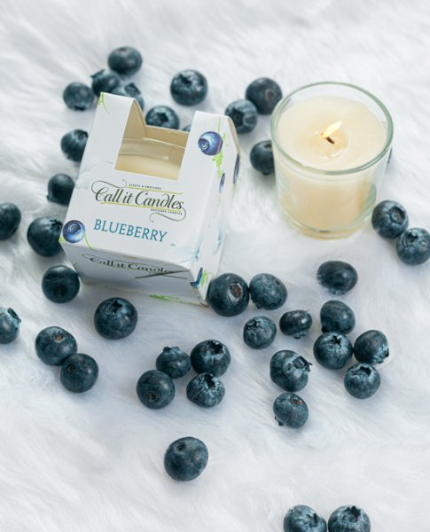 Blueberry Scented Glass Candle