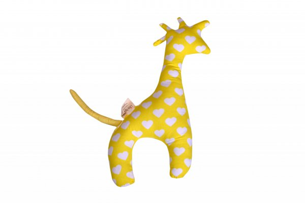 Boo The Giraffe Pillow, Yellow