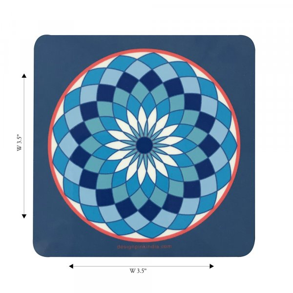 Blue Round Coasters