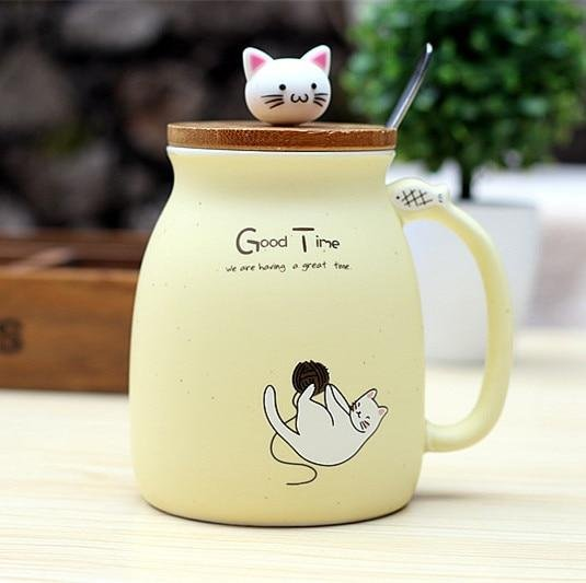 Cat Mug | Yellow