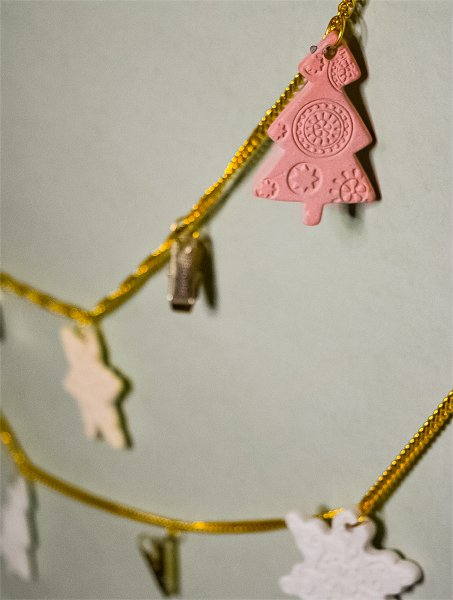 Classic Ceramic Christmas Photo Garland