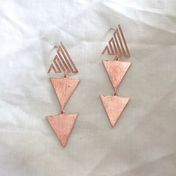 Cleopatra Earrings-Rose Gold