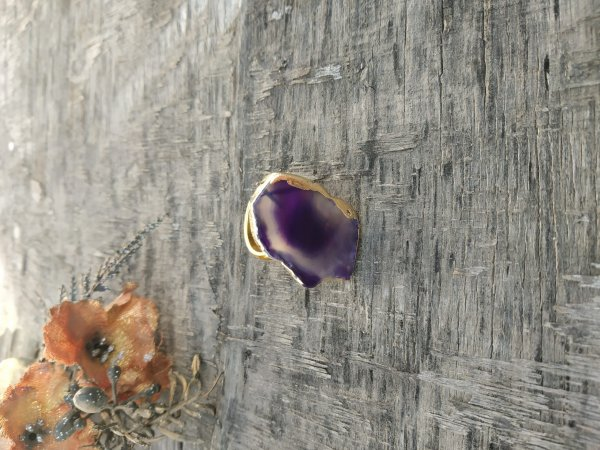 Cocktail Ring - Dark Purple