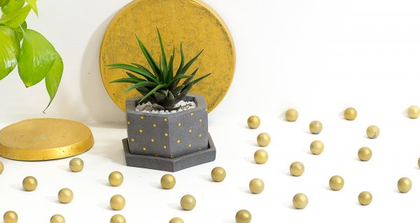 Concrete Hexafun  Planter
