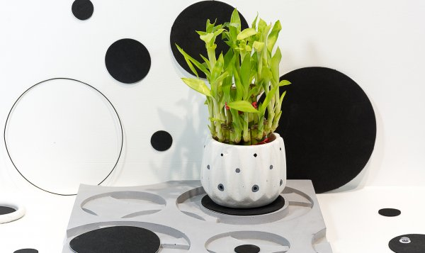 Concrete Icosa Planter