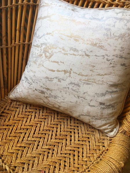 Cream Abstract Cushion Cover