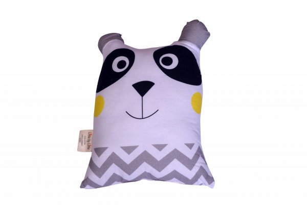 Cushion Candy The Panda Pillow, Grey