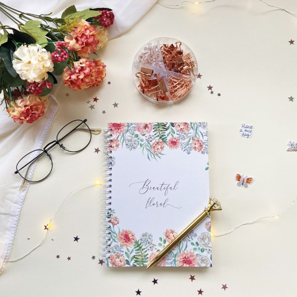 Beautiful Floral Notebook