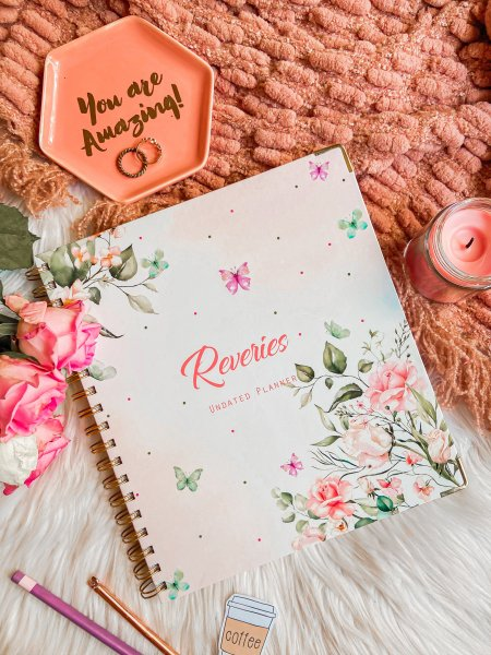 Blush Pink Floral- Reveries (Un-Dated Planner)