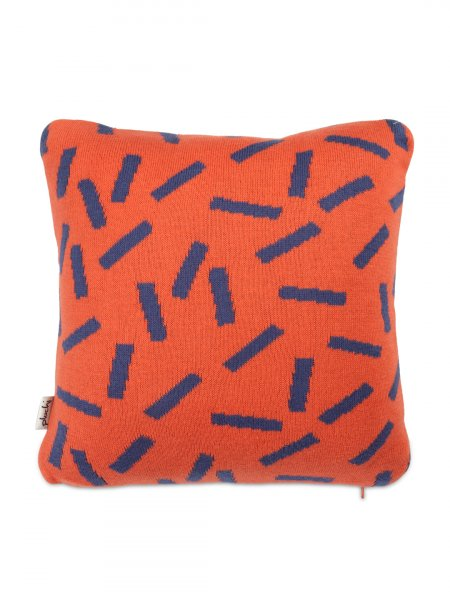 Dominos - Baby / Kids Cushion Cover in Rusty Red & Marine Colour