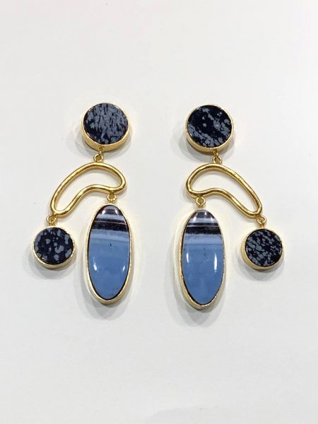 Dot, Oval and Loop Earrings