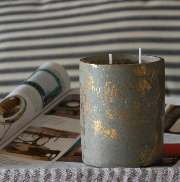 Scented Candle In Concrete