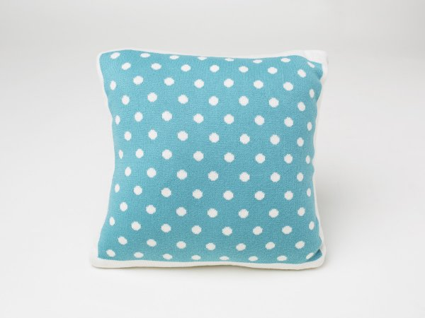 Dottie - Baby / Kids Cushion Cover in Baby Aqua & Natural Colour