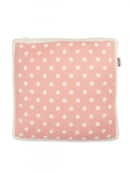 Dottie - Kids Cushion Cover in Baby Pink & Natural Colour