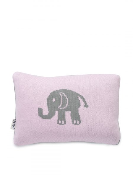 Elephant - Baby / Kids Cushion Cover in Pink & Medium Grey Colour
