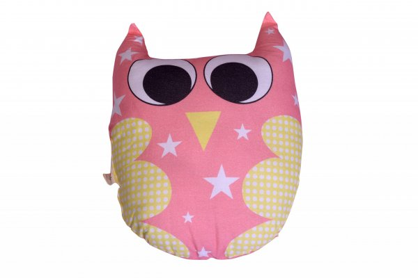 Ernie The Owl Pillow, Pink