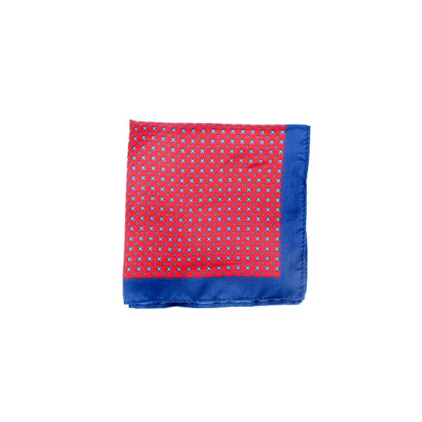 Floral Buzz Pocket Square, Red