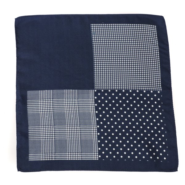 Four Look Trendy Pocket Square, Navy