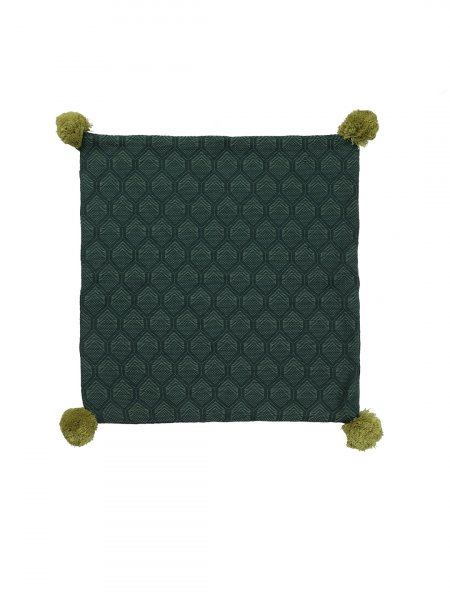 Franco - Asprin Green Colour Cotton Knitted Cushion Cover