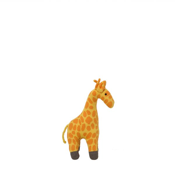Giraffe - Yellow, Orange & Medium Grey Melange Color Cotton Knitted Stuffed