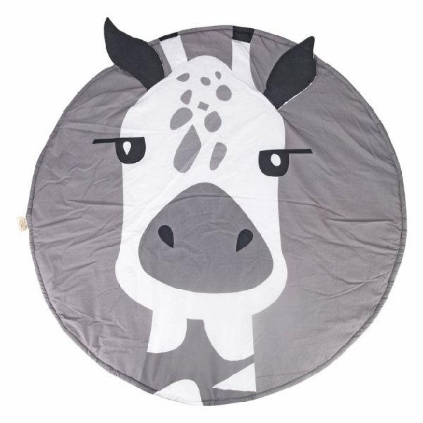 Giraffe Baby Playmat, Grey
