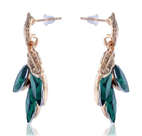Green Foliate Earrings