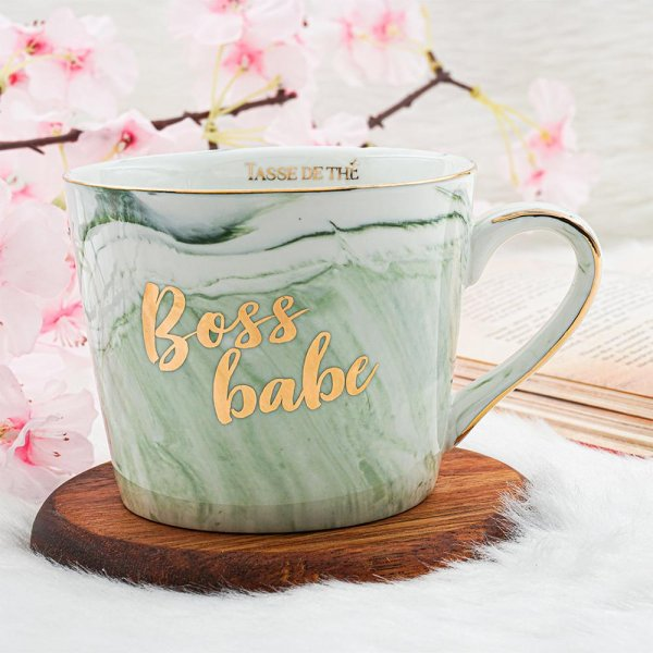 Green Marble Finish Mug