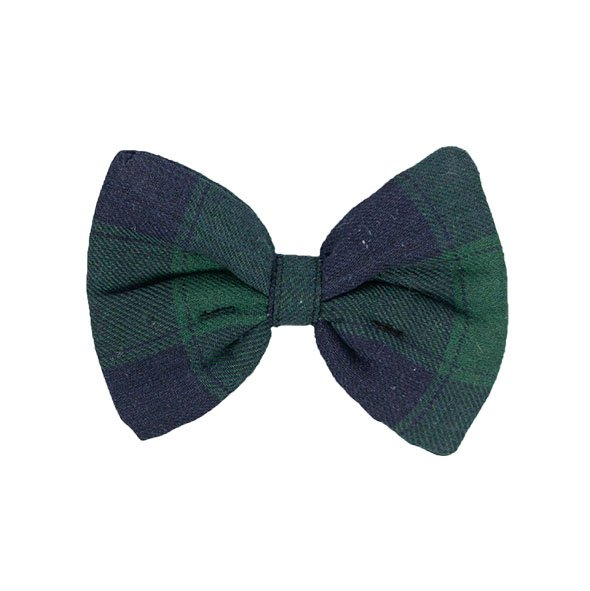 Green Plaid Slider Bow