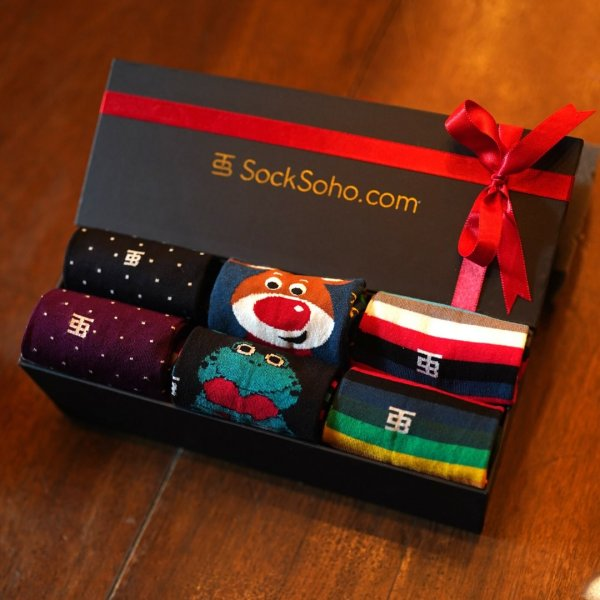 Happy Gift Box Of Socks