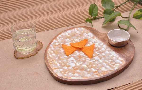 Heart Shape Mother of Pearl Platter