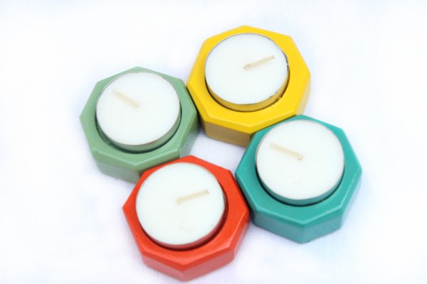 Hexagon Tea Light Candle