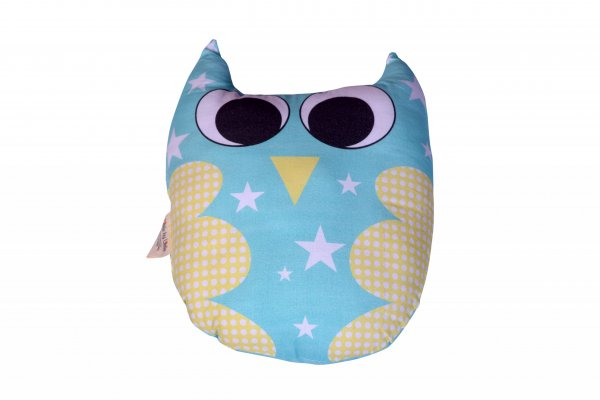 Hootie The Owl Pillow, Blue