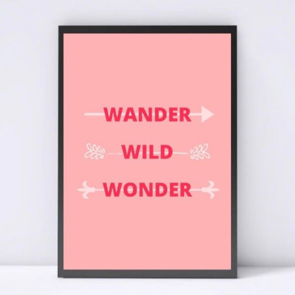 Wander Wild Wonder Wall Decor