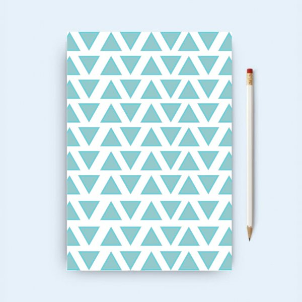 Blue Chevron Notebook
