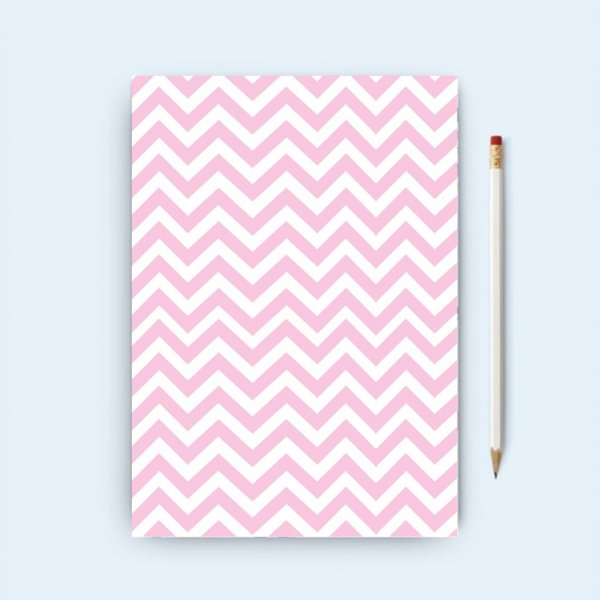 Pink & White Chevron Notebook
