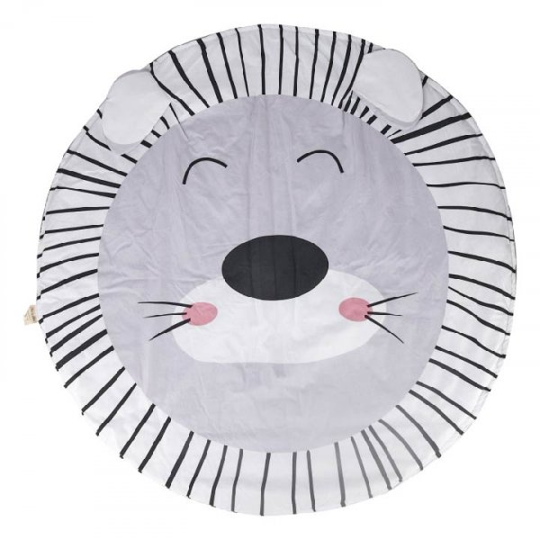 Lion Baby Playmat, Grey
