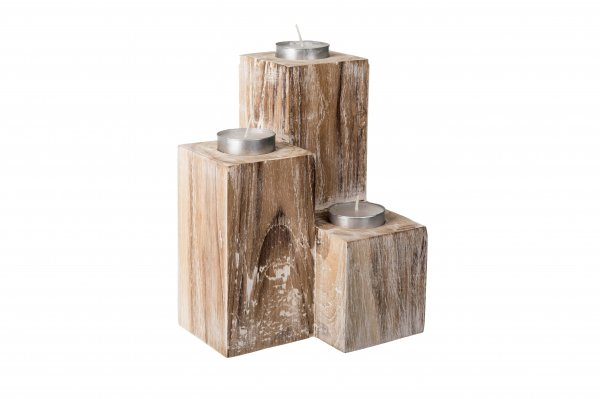 Mesa Wooden Candle Holder