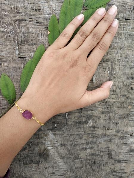 Agate Bracelet - Regal Purple