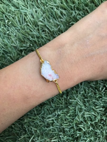 Agate Bracelet - Rock Salt